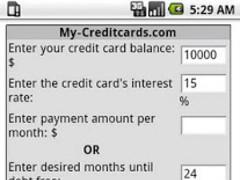 Credti Card Payoff Calculator 1.0.2 Screenshot