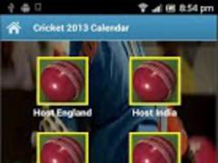Cricket 2013 Calendar 1.0 Screenshot