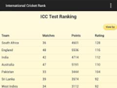 Cricket Ranking 1.0 Screenshot