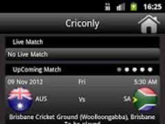 Criconly Cricket Scores & News 1.0 Screenshot