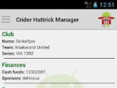 Crider Hattrick Manager 3.0.1 Screenshot