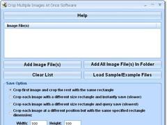 Crop Multiple Images At Once Software 7.0 Screenshot