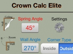 Crown Calc Elite - Industry leading crown molding calculator for perfect miter saw cuts 1.0.2 Screenshot