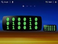 CRT Binary Clock Widget 1.1.1 Screenshot