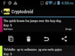 Cryptodroid Pro 2.5 Screenshot