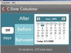 CSC Date Calculator 2.2 Screenshot