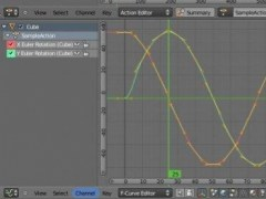 CSV F-Curve Importer for Blender  Screenshot