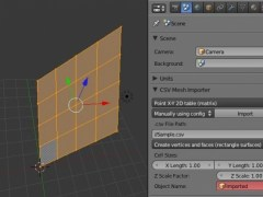 CSV Mesh Importer for Blender  Screenshot