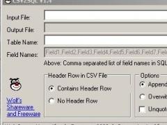 CSV2SQL 1.5 Screenshot