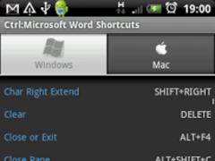 Ctrl: Microsoft Word Shortcuts 1.6 Screenshot