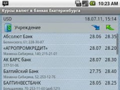Currency rates in Ekaterinburg 1.1 Screenshot