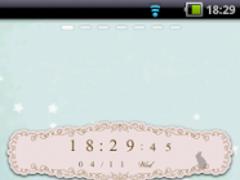 cute & stylish clock widget 1.47 Screenshot