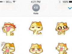 Cute Animated Cats Gifs & Emojis & Stickers New 1.1 Screenshot
