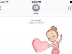 Cute Ballerina Stickers For iMessage 1.0 Screenshot