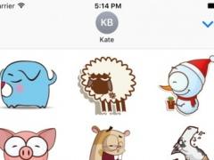 Cute Cartoon Animal Sticker Vol 02 1.0.0 Screenshot