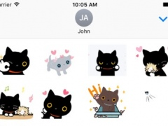 Cute Cat Moving Stickers - Animated Emojis 1.0 Screenshot