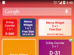 D-Day Counter & Memo Widget 3.0.4 Screenshot