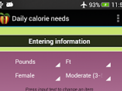 Daily calorie needs (BMR) 2.5.1 Screenshot