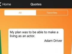 Daily Quotes - Adam Driver Version 1.0 Screenshot