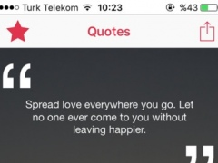 Daily Quotes - Inspirational, Love & Motivational 1.0 Screenshot