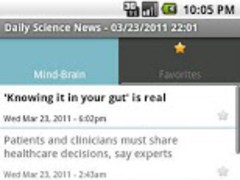 Daily Science Feed 1.0 Screenshot