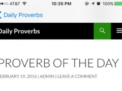 Daily verses from Bible Proverbs 1.0 Screenshot