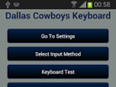 Dallas Cowboys Keyboard 1.21 Screenshot