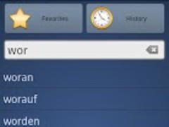 Danish German Dictionary Free 1.0 Screenshot