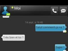 Dark Blue GO SMS Theme 1.1.1 Screenshot