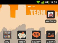DarkOrange theme GO Launcher 0.3 Screenshot