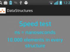 Data Structures Speed Test 1.0 Screenshot