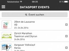 Datasport Event App  Screenshot