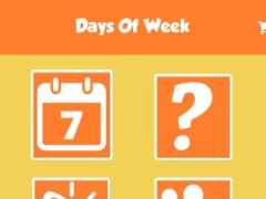 Days Of Week Learning For kids Using Flashcards and sounds-A toddler calendar learning app 4.0 Screenshot