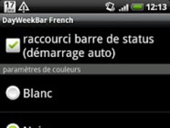 DayWeekBar French 1.0.1 Screenshot