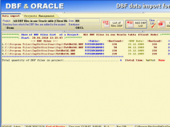 DBF data import for ORACLE 1.4 Screenshot
