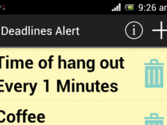 Deadlines Alert 1 Screenshot