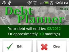 Debt Planner & Calculator 1.03 Screenshot
