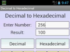 Decimal to Hexadecimal  Screenshot