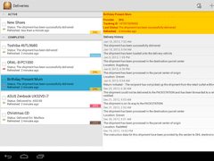 Deliveries Package Tracker 5.4.4 Screenshot