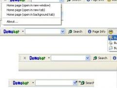 Demo toolbar for Internet Explorer (IEDemoToolbar) 5.0 Screenshot