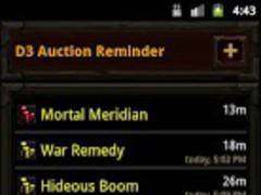 Diablo 3 Auction Reminder 0.1.2 Screenshot