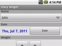 Diary Weight 1.5 Screenshot