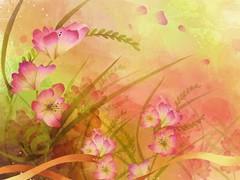 Digital Art Flowers Wallpaper  Screenshot