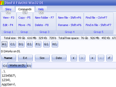 DimFil FileUtil Win32 DE 2.0 Screenshot