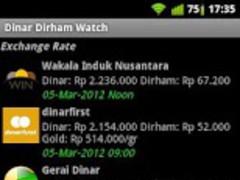 Dinar Dirham Watch 1.0.2 Screenshot