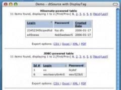 displaytag Source 0.3 Screenshot