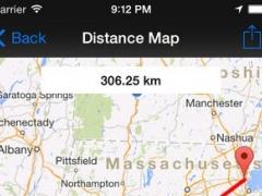 Distance Comparison Map Pro 1.21 Screenshot