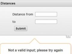 Distances between cities 1.0 Screenshot