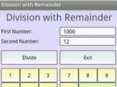 Division with Remainder 1.2 Screenshot