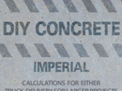 DIY Concrete Imperial - Concrete Calculator 1.0 Screenshot